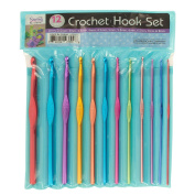 Kole Imports OS162 Aluminium Crochet Hook Set, Multicolor