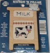 Milk (Cow) - Stitch N Frame Ornament - Counted Cross Stitch Kit #226