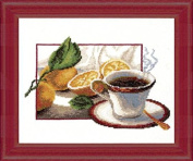 Embroidery Counted cross stitch kit Charivna mit #285 A cup of coffe Fruits 24x20 cm / 9.45x7.87 in
