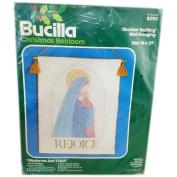 "Bucilla Christmas Heirloom ""Rejoice"" Shadow Quilting Wall Hanging 41cm x 50cm Kit No. 82113"