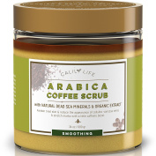 CalilyLife Organic Arabica Coffee Scrub with Dead Sea Minerals, 710ml – Achieve Smooth and Firm Skin - Deep Hydrating, Exfoliating and Cleansing – Helps for Wrinkles, Stretch Marks, etc.