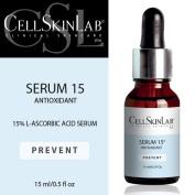 Prevent Serum 15 Antioxidant by Cell Skin Lab Clinical Skin Care 1.5ml/0.5fl oz