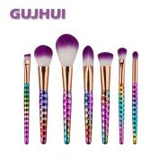Hunputa 7PCS/Set Pro Make Up Foundation Eyebrow Eyeliner Blush Cosmetic Concealer Brushes