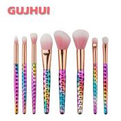 Hunputa 8PCS/Set Make Up Face Foundation Eyebrow Eyeliner Blush Cosmetic Concealer Brushes