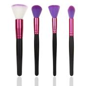 Hunputa 4PCS Makeup Brushes Set Powder Foundation Eyeshadow Eyeliner Lip Brush Tool