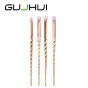 Hunputa 4PCS/Set Make Up Foundation Face Eyebrow Eyeliner Blush Cosmetic Concealer Brushes