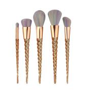 Hunputa 5PCS/Set Make Up Foundation Face Eyebrow Eyeliner Blush Cosmetic Concealer Brushes
