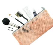 2PCS Multi-functional Stationery Makeup Organiser Bag Packing Bags Travel Mesh Cosmetic