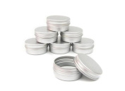 10PCS 50ml/100ml Empty Refillable Cream Balm Nail Art Cosmetic Make Up Sample Aluminium Tins Bottle Pot Lip Jars Container Case with Screw Lid for DIY Cosmetics/Beauty Products