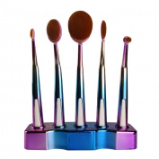 OVERMAL 5Pcs Makeup ToothBrush Cosmetic Foundation Powder Brushes