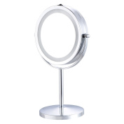Giantex 18cm Double-Sided Makeup Mirror 18 LED Lights 3x Magnification Vanity Beauty