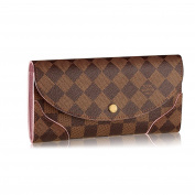 .   Damier Canvas Caissa Wallet Rose Ballerine Article:N61227 Made in France