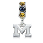 NCAA University of Michigan Wolverines Jewellery - Sterling Silver Women's Charms and Charm Beads