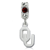 NCAA University of Oklahoma Sooners Jewellery - Sterling Silver Women's Charms and Charm Beads