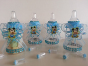 12 Baby Mickey Mouse Fillable Bottles Baby Shower Favours Prizes Boy Decorations
