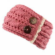 IGEMY Women Crochet Knitted Braided Knit Wool Hat Cap Headband Hair Band