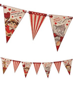 Bethany Lowe Retro Style Wild About You Valentine's Day Pennant Garland