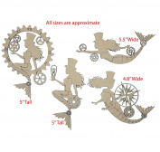 Steampunk Mermaid Chipboard Scrapbook Embellishments