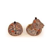 Fine Gourd Hand Carved Assorted Designs Box Chest Fair Trade Peru 13cm Trunk Coffer