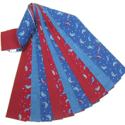 Patriotic Paisley Jelly Roll 16 Quilting Fabric Strips 6.4cm x 110cm Precut