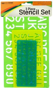 Kole Imports HW666 Numbers & Letters Stencil Set