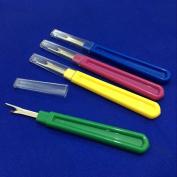 YEQIN 4 pcs Plastic Handle Craft Thread Cutter Seam Ripper Stitch Ripper Sewing Tool