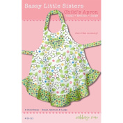 """CABBAGE ROSE """"SASSY LITTLE SISTERS CHILD'S APRON"""" Sewing Pattern"""