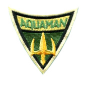 Athena Aquaman 7.6cm X 7.6cm Embroidered Sew/Iron-On Patch Appliques