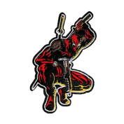 Athena Deadpool 11cm X 6.4cm Embroidered Sew/Iron-On Patch Applique