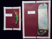 #09m Maroon-Fishing Tackle Cover Salmon Large Flasher and Lure cover Combo Pack Maroon