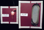 #014m-Maroon Sockeye/Kokanee Combo Pack Dodger and lure Cover and Pole wraps
