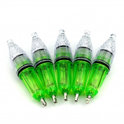 Aomeiter 5Pcs 12cm Deep Drop Super Waterproof LED Fishing Light Disco Blinking 7 Colours