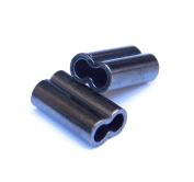 Mini Copper Double Barrel Crimp Sleeves 1.4mm x 7mm - 100 pieces