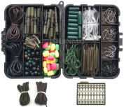 JSHANMEI ® Carp Fishing Tackle Kit with Swivels/Hooks/Sleeves/Rubbers Tubes/Lead Clips/Beads/Hair Rigs/Hair Extender Stoppers Set