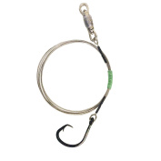 Weighted Cable Shark Rig - 480# Cable, 18/0 Circle Hook