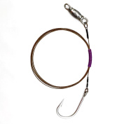 Weighted Shark Rig - 270# Brown Cable, 11/0 Hook