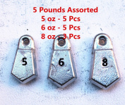 Kathy store INC Flat Bank Sinkers Fishing Sinkers - assorted weights