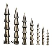 JSHANMEI 100% Tungsten Weights Sinkers Fishing Tackle Pagoda Wacky Nail Sinkers Pencil Worm Insert Fishing Weights