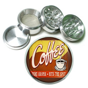 """63mm 2.5"""" 4Pc Aluminium Sifter Magnetic Grinder D-248 Coffee Fine Aroma Hits The Spot"""