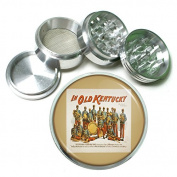 """63mm 2.5"""" 4Pc Aluminium Sifter Magnetic Grinder D-106 In Old Kentucky The Original Pickaninny Band"""