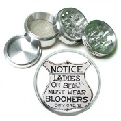 """63mm 2.5"""" 4Pc Aluminium Sifter Magnetic Grinder D-239 Notice Ladies On Beach Must Wear Bloomers City Ord 72"""