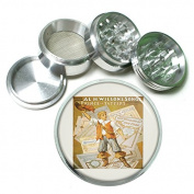 """63mm 2.5"""" 4Pc Aluminium Sifter Magnetic Grinder D-103 Wilson's Songs A Prince of Tatters"""