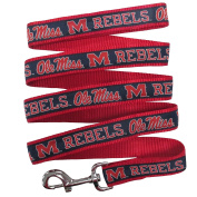 University of Mississippi Nylon Ribbon Dog Leash