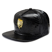 MCSAYS Hip Hop Style Crsytal Gold Plated Crystal CZ Iced Out Lion King Pendant PU Leather Sports Caps Baseball Cap/ Hat