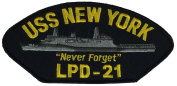 "USS NEW YORK LPD-50cm NEVER FORGET"" PATCH - Multi-coloured - Veteran Owned Business"