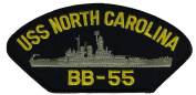 USS NORTH CAROLINA BB-55 PATCH - Multi-coloured - Veteran Owned Business