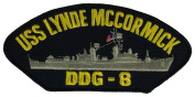 USS LYNDE MCCORMICK DDG-8 PATCH - Multi-coloured - Veteran Owned Business