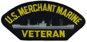 US MERCHANT MARINE VETERAN PATCH - Multi-coloured - Veteran Owned Business