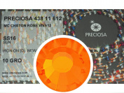 Sun HOTFIX, 1440 Preciosa Genuine Czech Crystals 16ss Viva12 Iron-on, ss16, 4mm