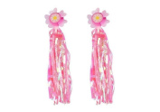 Sunflower Bike Scooter Handlebar Streamers-- Sparkle Tassel Pink Ribbons for Childrens Kids Bicycle Trike Grips Baby Carrier Accessories